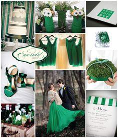 Emerald Green Wedding, Pantone Color of the Year Emerald Green, Emerald Green Centerpiece Ideas, Wedding Trends 2013 Emerald Wedding Colors, Emerald Green Weddings, Winter Wedding Colors, Emerald Color, Winter Weddings, Color Inspiration, Wedding Inspiration, Verde Jade, Fall Color Palette