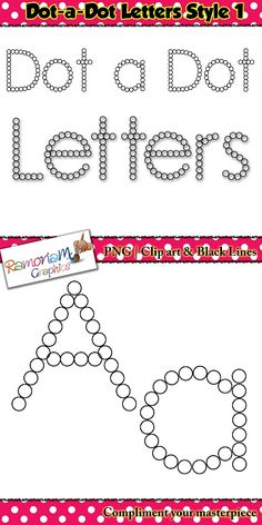 off till June aest! Alphabet letters: dot a dot font clip art set contains 52 letters (upper and lower case) in black and white. Each letter is composed of circles large enough for a dot-a-dot/bingo marker to fit into. Kindergarten Literacy, Classroom Activities, Classroom Organization, Alphabet Crafts, Alphabet Letters, Abc Worksheets, Teacher Forms, Teacher Helper, Letter Of The Week