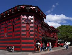 The firehouse museum at Plaza Las Delicias (Delicacies Plaza) in the center of the city of Ponce, colorful, interesting, and the  place to start exploring this jewel of the south.   Puerto Rico.