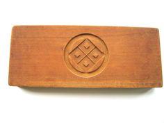 Vintage Japanese Kashigata Mold Double Sided Kamon Family Crests
