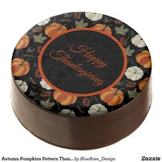 Autumn Pumpkins Pattern Thanksgiving Chocolate Covered Oreo Cookie Icing, Oreo Cookies, Chocolate Dipped Oreos, Oreo Pops, Thanksgiving Treats, Cookie Gifts, Confectionery, Fall Pumpkins, Corn Syrup