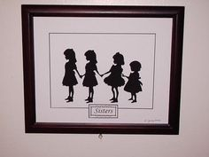 Scherenschnitte Silhouette Papercutting of 4 by traditionall