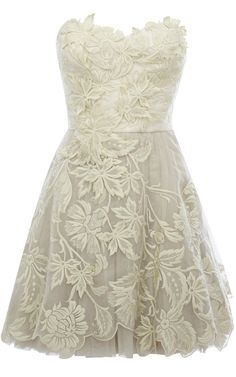 rehearsal dress? Karen Millen Romantic embroidery dress ivory [DN163_W] - $137.80