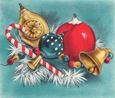 "That Christmasy Feeling (@thatchristmasyfeeling) on Instagram: ""Vintage Christmas card via sincerelydear on eBay."""
