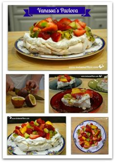 Vanessa's Pavlova - get the recipe at www.tootsweet4two.com.