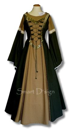 Medieval Garment with Hood Maiden Dress Gothic