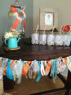 Fabric garland at a Brave birthday party! See more party ideas at CatchMyParty.com!