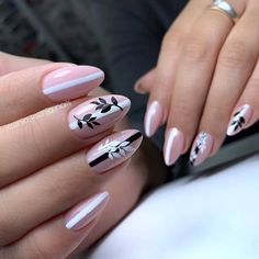 50 Natural short almond nails design to rock the dizzy summer! - Latest Fashion Trends For Woman Striped Nail Designs, Long Nail Designs, Striped Nails, Nail Art Designs, Pedicure Nail Art, Nail Manicure, Manicures, Nail Polish, Cute Nails