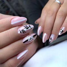 50 Natural short almond nails design to rock the dizzy summer! - Latest Fashion Trends For Woman Fabulous Nails, Perfect Nails, Long Nail Designs, Nail Art Designs, Cute Nails, Pretty Nails, Hair And Nails, My Nails, Fall Nails
