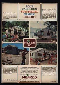 Nice basic, compact and lightweight tent trailers from the 60's