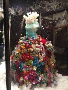 how to make a christmas tree with a dress form - Google Search