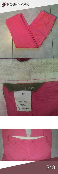 "??One day Sale?? J. Crew Pink Jeans Petite J crew pink jeans.  Size 6 Petite Inseam: 24"" Same day shipping.  Save 15% with 3+ items!! J. Crew Jeans"