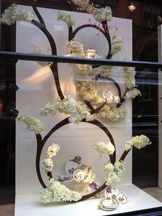 Delightful window dressing by Asprey in London.  #window