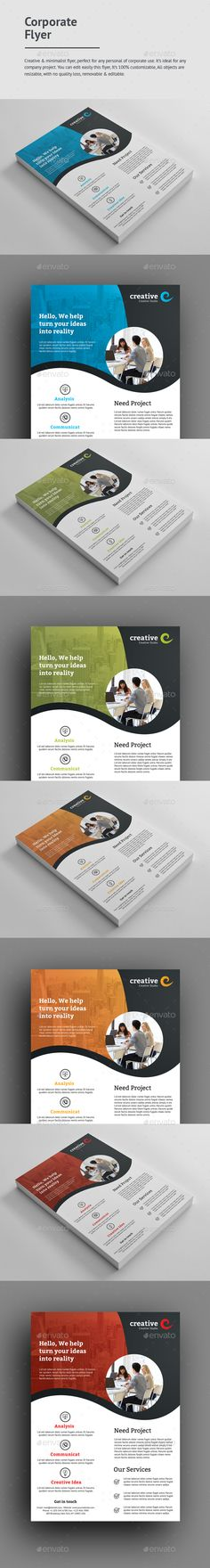#Corporate #Flyer - Corporate Flyers Download here: https://graphicriver.net/item/corporate-flyer/19464125?ref=alena994