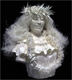 """Ku'uipo , a handmade paper sculpture by Patty and Allen Eckman. Ku'uipo means  """"sweetheart"""" or """"lover"""" in Hawaiian."""