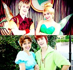 The same people playing Peter Pan and Wendy as Terence and TinkerBell