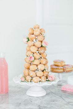 Valentine's Day Sweets: Creating a Donut Hole Tower