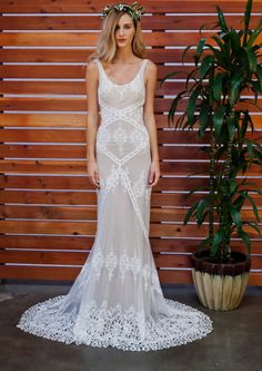 Cecilia Lace Gown Bohemian WeddingsRustic