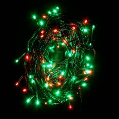 noma length of 120 green and red indoor and outdoor multi function led fairy lights green cable - Red And Green Led Christmas Lights