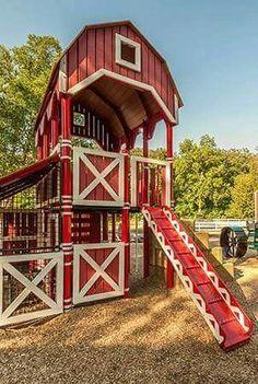 Astonishing Backyard Playground Design Ideas To Try Asap 05 Goat Playground, Playground Design, Backyard Playground, Backyard For Kids, Backyard Ideas, Children Playground, Goat House, Goat Barn, Outdoor Living