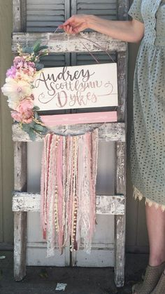 Nursery name sign nursery decor baby girl name sign custom Etsy Baby Girl Nursery Decor, Nursery Signs, Baby Room Decor, Nursery Wall Art, Floral Nursery, Rustic Nursery, Nursery Room Ideas, Pink And Gray Nursery, Nursery Letters