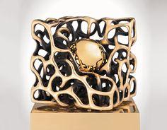 Gianfranco Meggiato -Cubo aperto-  fusion in bronze lost wax   2010