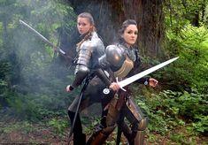 Oberonsson on Art — Maria Kountz and Rhiya Prater - Knights in the. Fantasy Inspiration, Character Inspiration, Character Art, Character Concept, Female Armor, Female Knight, Medieval Armor, Medieval Fantasy, Renaissance