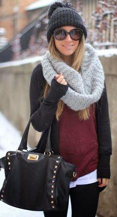 winter fashion knit layers