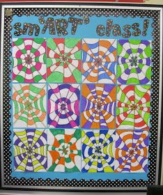 Runde's Room: complimentary colors optical Illusions in Art Class