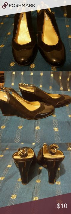 Metro 7 black patent leather wedges Ladies size nine and a half only wore once perfect condition black patent leather very clean metro 7 Shoes Wedges