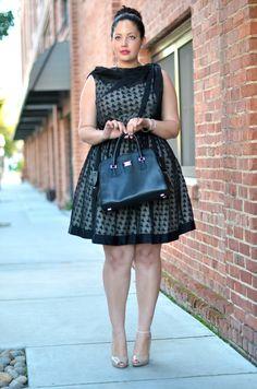 Retro glam lace dress purple lining