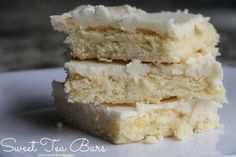 Sweet Tea Bars!  Hello?  If you're from the South, you have to make these :).
