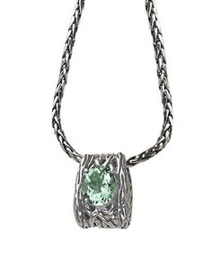 Effy Balissima Green Amethyst Necklace Set in Sterling Silver Women's