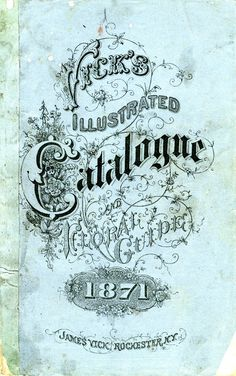 Vick's Illustrated CATALOGUE :: Check out the #LETTEROLOGY blog...all kinds of amazing typographical product pix!