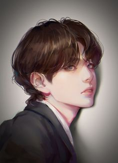 Art Drawings Sketches Simple, Bts Drawings, Parchment Background, Taehyung Fanart, Bts Funny Videos, I Love Bts, Kpop Fanart, Boy Art, Yandere