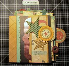A fun 6x6 mini album created from a True Fit File Folio and the Typeset Workshop on the go :O)