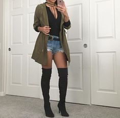 Thigh high boots outfit