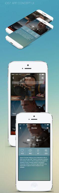 iOS7 App Concept UI