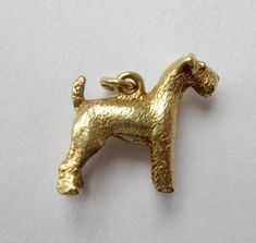 NEED - Vintage 14K Gold Terrier Charm