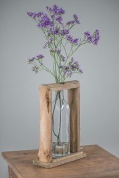 Wooden Frame With One Bottle