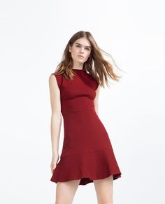 ZARA - COLLECTION SS16 - DRESS WITH CONTRASTING FRILL