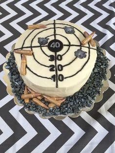 40th birthday firearms police cake, military, bullseye