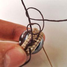{545C26E5-AA6C-49D8-84B9-495FCD9BE30D:01} Macrame Jewelry Tutorial, Macrame Necklace, Macrame Bracelets, Washer Necklace, Jute Twine, Micro Macrame, Gold Rings, Earrings, Accessories