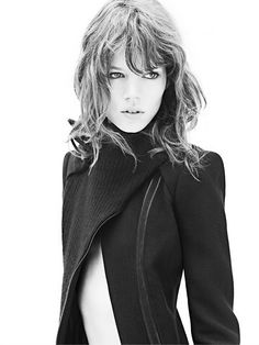 Freja Beha Erichson, a Danish supermodel who was scouted from behind!  And she's openly gay!