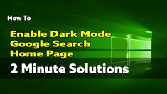 Microsoft Edge Chromium How to enable Dark Mode, Google Search & Home Page Fast Browser, Google Search Page, Enabling, Science And Technology, Microsoft, Ms, Dark