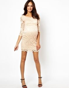 Maternity Lace Body-Conscious Dress
