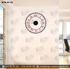 Stickers avec montre intégré Modèle Prime Design: N'hésitez pas à nous contacter ...  Nous vous souhaitons la bienvenue ... Tél: 96 782 281 / 26 602 389