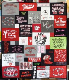 Tee shirt quilt. Potential design for Kirk.