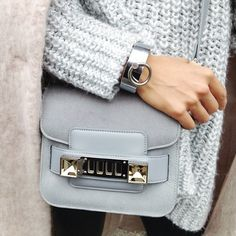 spring accessories: 3.1 phillip lim bag, light knits