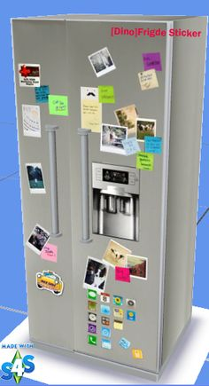 Hi, i'm buzy too long to comeback. I made a new fridge with sticker on it. I haven't know how to make new object yet. That why the water in ...